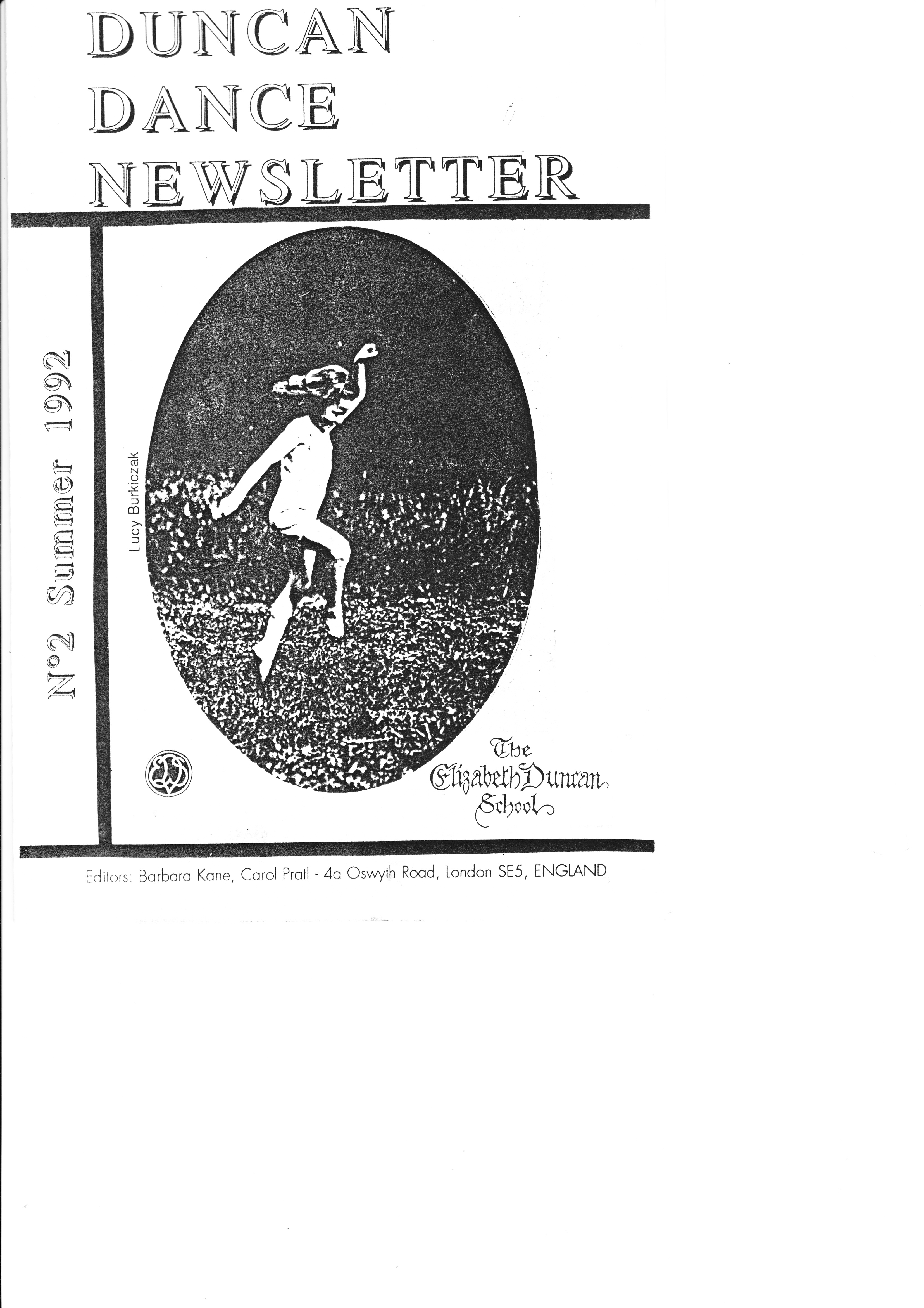 The Collection Of Barbara Kane Duncan Dance Newsletter 2